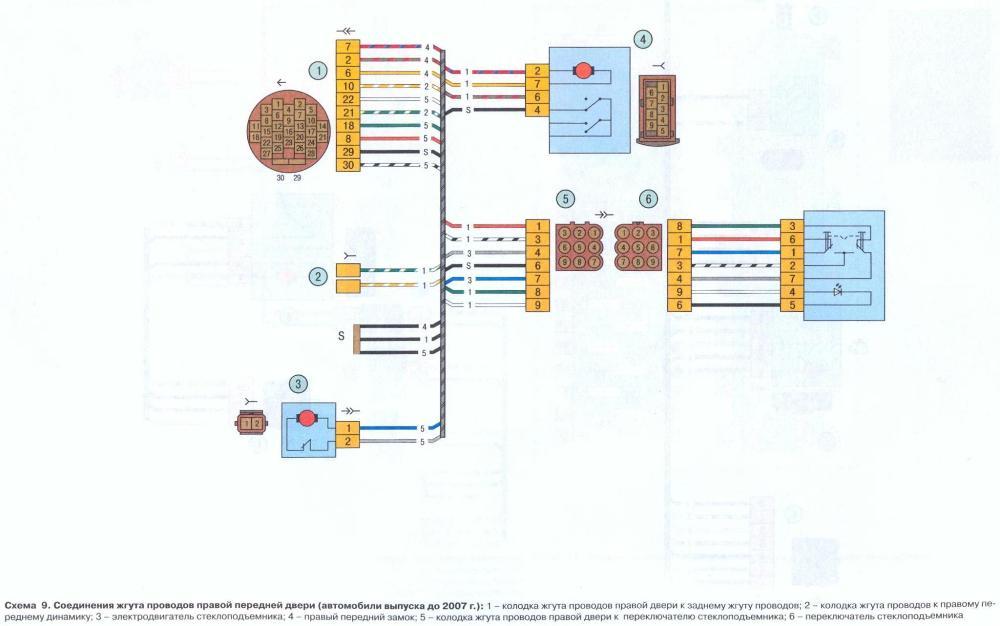 Схема замок зажигания lada kalina