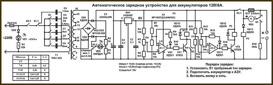зарядное устройство для автомобильного аккумулятора 12в своими руками