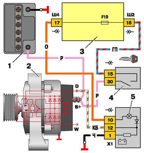 1 – аккумуляторная батарея;