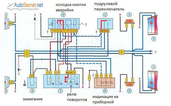 Схема поворотов схема подключения фото 805
