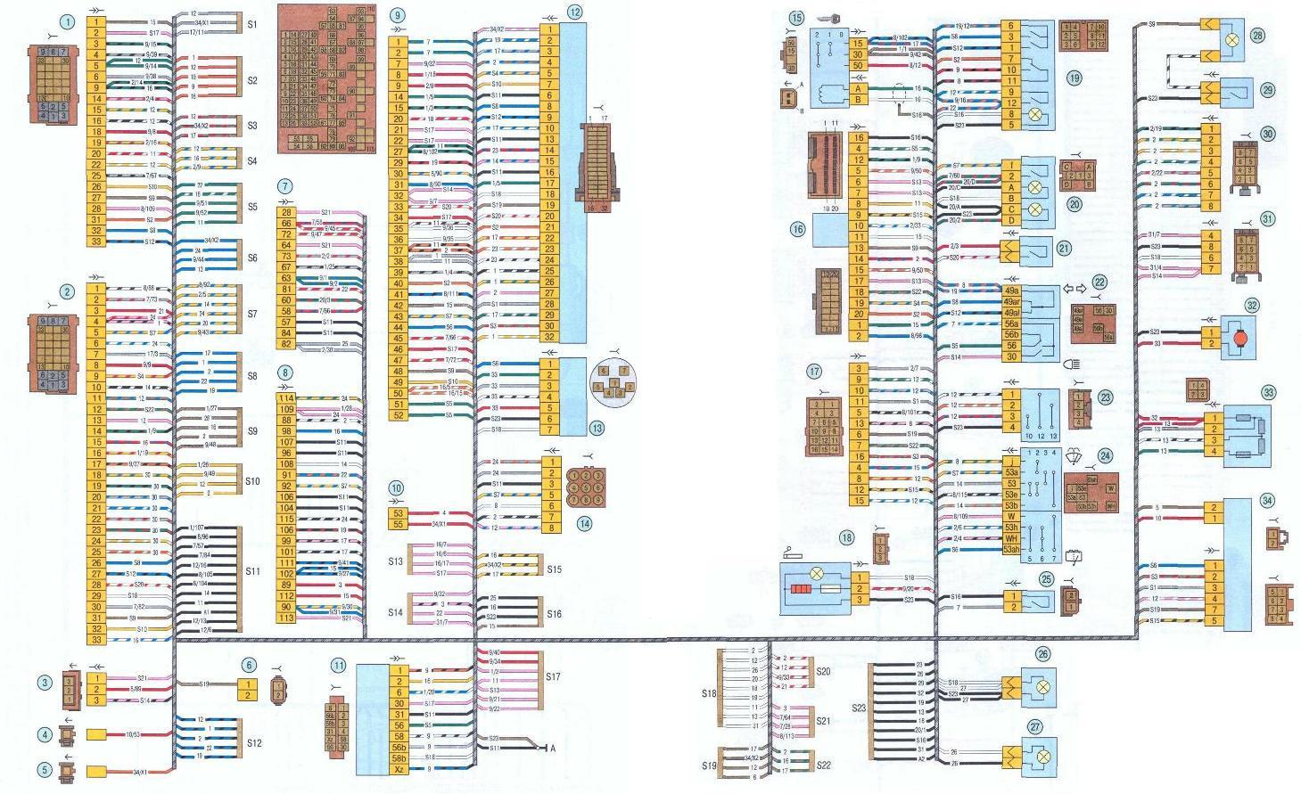 Электрическая схема lada kalina фото 6