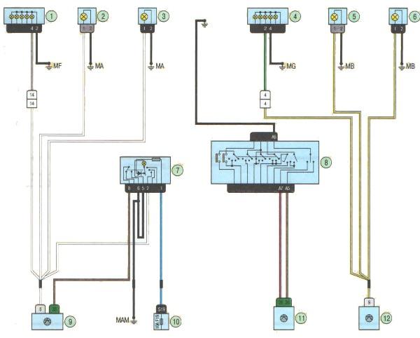 Электрическая схема аварийной сигнализации 433