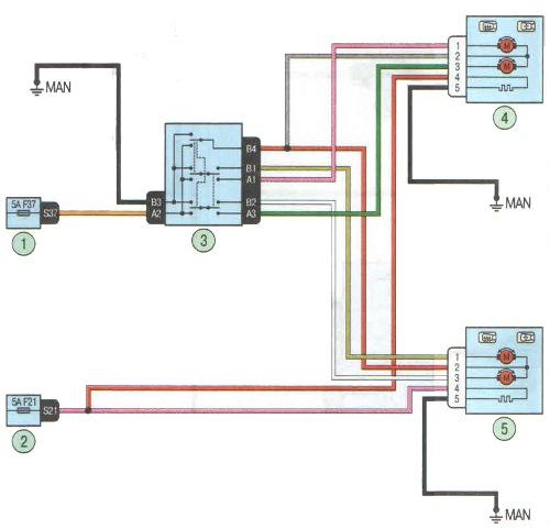 Схема подключения регулировки зеркал фото 844