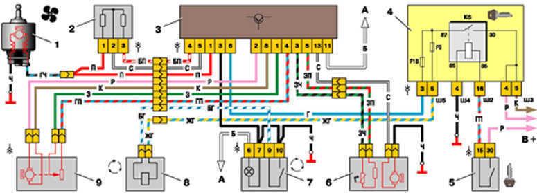 7 47 eps - Схема подключения блока управления печкой ваз 2110