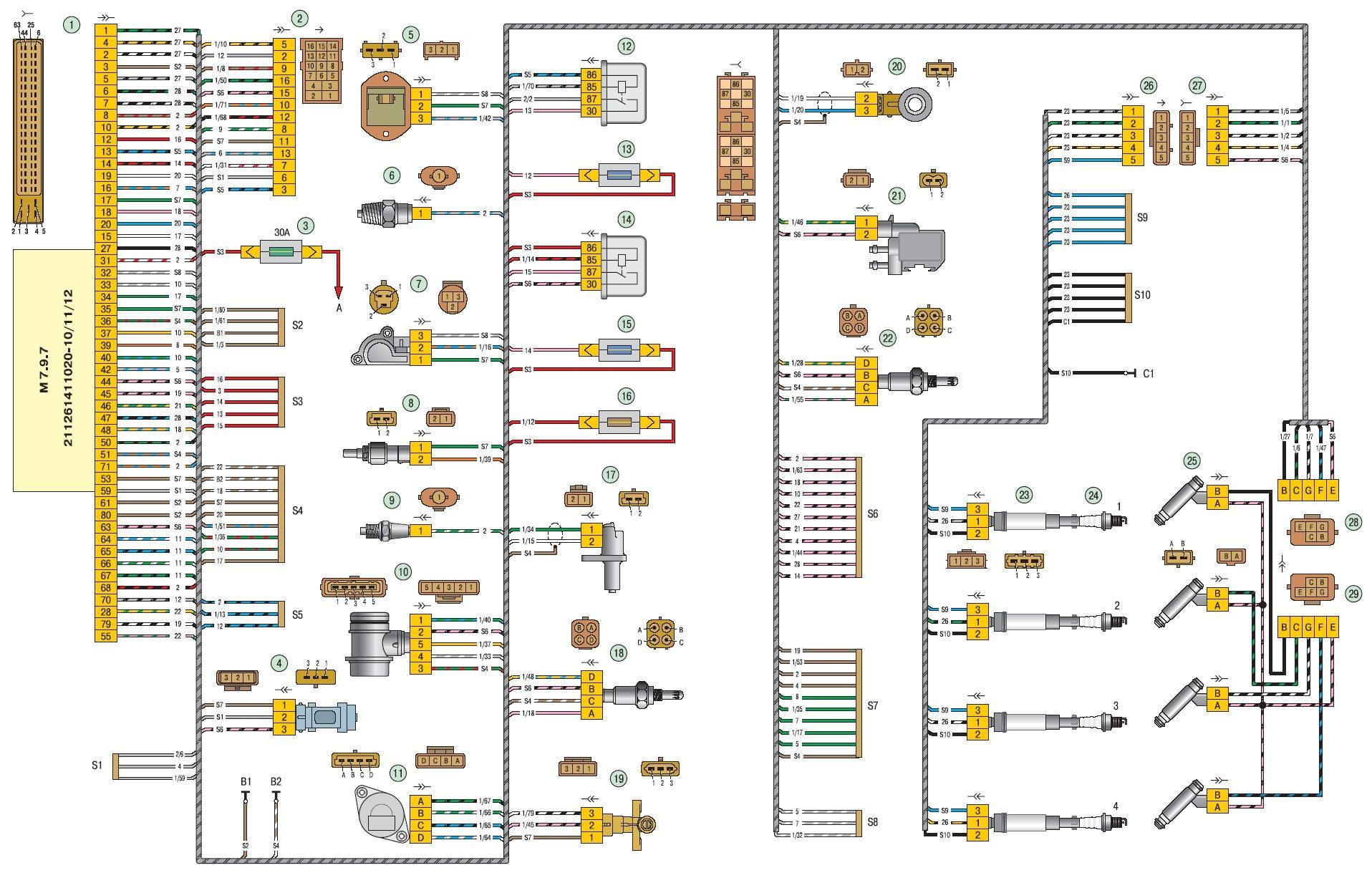 Переключение передач на лада приора схема