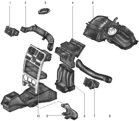 vent - Схема управления печкой приора